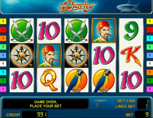 Игровой автомат Sharky в казино Вулкан