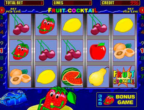 Играть в казино Вулкан на игровом автомате Fruit Cocktail
