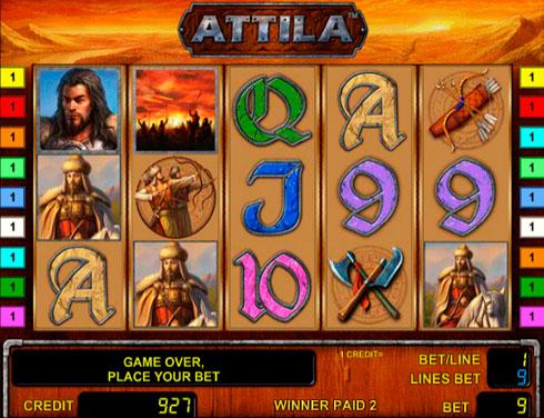 Игровой автомат Attila на деньги в казино Вулкан