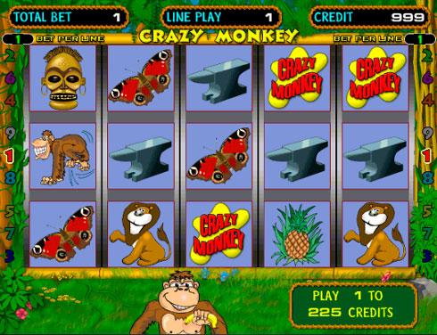 Игровой автомат Crazy Monkey в клубе Вулкан