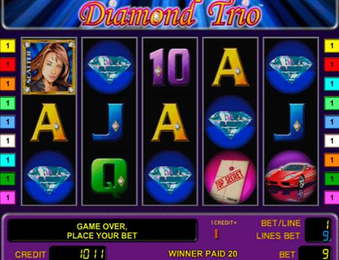 Игровой автомат Dimond Trio на деньги в казино Вулкан