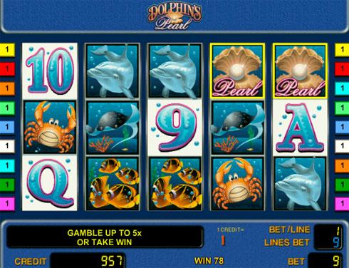 Игровой автомат Dolphins Pearl на деньги в казино Вулкан