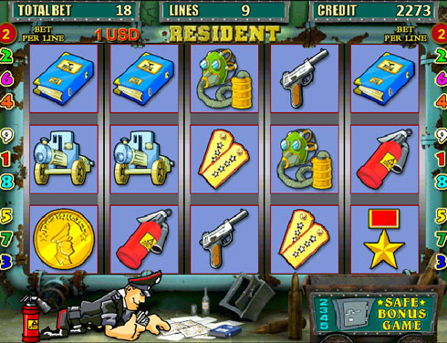 Игровой автомат Resident в казино Вулкан на реальные деньги
