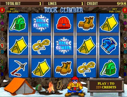 Игровой автомат Rock Climber в казино Вулкан