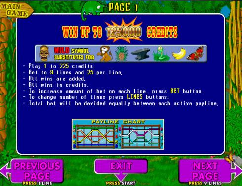 Правила игры на автомате Crazy Monkey